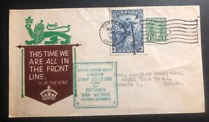 1941 Toronto Canada Patriotic cover Domestic Used We Are All In The Front Line
