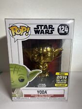 Funko Pop Star Wars Yoda Gold Chrome #124 2019 Galactic Convention Exclusive
