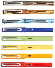 8 Piece Jinhao Fountain Pen Set, Assorted Colors, Ink Cartridges, Fine Nibs