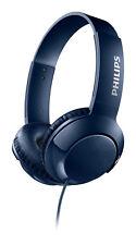 Philips On-Ear Kopfhörer Bass Plus SHL3070 Blau Bügelkopfhörer faltbar mit Kabel