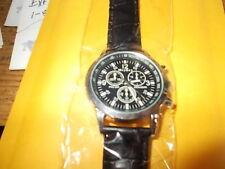 Geneva Fashion Men's Casual Watches Quartz Leather Band Analog Wrist Watch