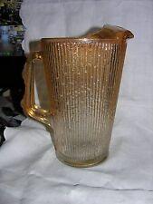 "Carnival Glass Marigold Tree Bark Pitcher 9 1/2"" Tall"