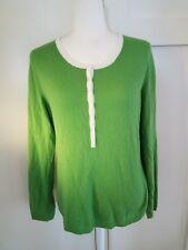 Talbots Sweater Womens Medium Pullover 1/2 Button Front Wool Cashmere Angora
