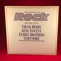 HISTORY OF ROCK CHUCK BERRY GENE VINCENT EVERLY BROTHERS SAM COOKE Vinyl LP