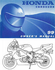 1999 HONDA CBR900RR FIREBLADE MOTORCYCLE OWNERS MANUAL -CBR 900 RR-HONDA-CBR900