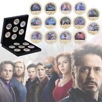 14pcs Marvel The Avengers Pièces commémoratives en or super-héros dans la boîte