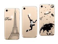 iPhone 7, iPhone 8 - Pack de 3 Coques Gel Souple et solide avec motifs
