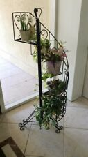 New listing Rod Iron Spiral Staircase Planter Lot 2054
