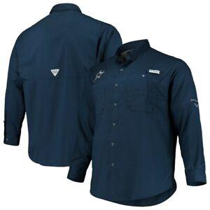 New Columbia PFG Omni Shade Dallas Cowboys NFL Football shirt men's XL Navy Blue