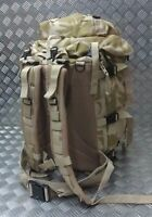 Genuine British Military  Desert or DPM Camo Rucksack Radio Carrier / Bergen