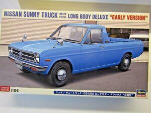 Hasegawa 1:24 Scale Nissan Sunny Truck (1973) Long Body Early Model Kit # 20267