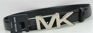 MICHAEL KORS Men's 31MM MK Hardware Belt Size: 32 Black Leather $48 NEW