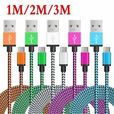 1/2/3M USB-C Type-C Data Sync Charger Fast Charging Cable For Samsung  Lot SQ