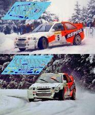 Decals Ford Escort WRC Rallye Montecarlo 1997 5 6 calcas Sainz Schwarz