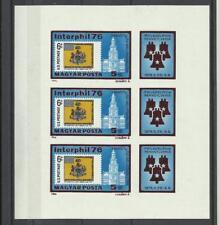 Hongrie Bloc Non Dentelé **MNH YT 2498x 3 expo Interphil 76 Magyar Ungary cloche