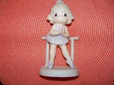 Precious Moments Figurine, 100129, Lord Keep Me On My Toes, Cedar Tree, 1985 Euc
