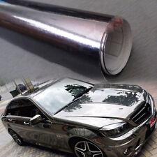 152cmx30cm Dark grey Car Glossy Chrome Mirror Vinyl Wrap Film Roll Sheet Sticker