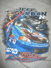 "JEFF GORDON No. 24 STAR WARS Episode 1 ""NOW THIS IS RACING"" (MED) T-Shirt"