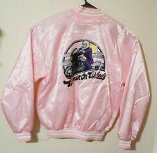 Vintage Hartwell Women Pink Lady greaser Jacket L Women On Wheels Motorcycle