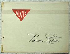 ALVIS tre litri TA 21 AUTO BROCHURE DI VENDITA c1952? Saloon sottotitolo COUPE SPORT