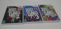 Just Dance 3, 4 & 2014 (Nintendo Wii) Complete /w Manuals Tested & Working