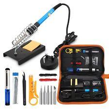 Soldering Iron Kit Electronic Tin Wire 60W Cutter Pump Gun Tube Adjustable Tools