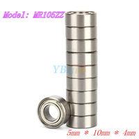 New 10* MR105ZZ Miniature Bearings Ball Mini Bearing 5mm X 10mm X 4mm yfq