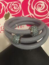 NEW Brighton Woodstock Leather Bracelet with Swarovski Crystal Beads NWT