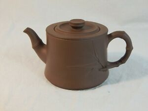 YiXing Zisha Clay Teapot marked China Yixing 中国宜兴竹段