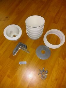 Lot Of 30+ Can Light Installation Accessories Shades Cans Trim Brackets Screws+
