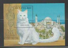 Guyana 1992 Cat Pet Stamps Turkish Angora Cat Mnh - Kcat12
