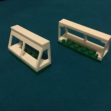 Bn Lego White Soccer Goal Posts X2 Goalie Posts On Green Plates