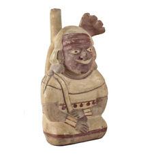 Pre Columbian Moche Peru Pottery, Figural Vessel with Stirrup Spout