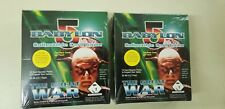 2 BOX LOT Babylon 5 The Great War CCG Booster Game Collector Trading Card Box