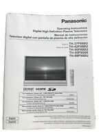 Panasonic TH-37PX60UTV TH-58PX60U  TH-50PX60U/X TH-42PX60U TV OWNERS  MANUAL NEW