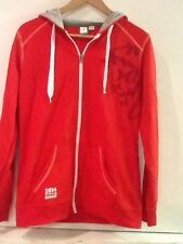Spain Espana OFFICIAL FIFA World Cup 2014 Womens Red Hooded Jacket Zip Warm Up M