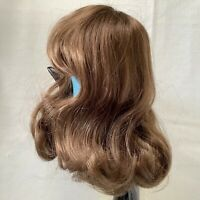 Hand Styled Doll Wig Global Dolls Samantha 11-12 Light Brown NOS Modacrylic