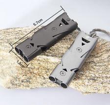 EDC Stainless Steel Survival gear lifesaving emergency SOS Whistle W/ Carabiner
