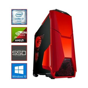 PC COMPUTER DESKTOP FISSO ASSEMBLATO GAMING I7 16GB SSD 240GB + 2TB RGB WARZONE-
