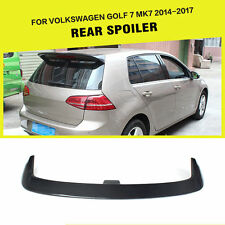Fit for Volkswagen VW Golf 7 MK7 14-17 Rear Roof Spoiler Lip Wing Carbon Fiber