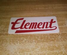 ELEMENT SKATEBOARDS THE ICONIC VARSITY TEAM LOGO STRIP SKATEBOARD STICKER