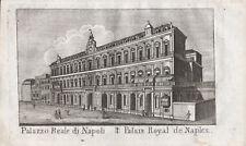 PALAZZO REALE BORBONE NAPOLI - Incisione Originale Mariano Vasi 1821 Naples