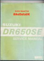 Suzuki DR650SE (1996 >) Genuine Factory Shop Manual Repair Book DR 650 SE BS23