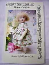 """11"""" Bleuette PATTERN for Ruffled Dress and Hat"""