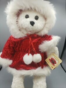 """RARE PBC Chantilly Lane 22"""" Christmas Bear Sings """"Santa Baby"""" Musical Moving Vtg"""