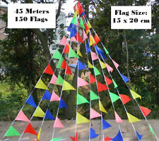 45m Super Long Rainbow Bunting Party Flags for Birthday Parties / Market Stalls