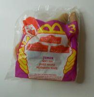 McDonald's Lion King II Simba's Pride Plush #3 Timon Soft Toys NEW 1998