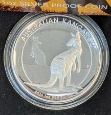 2016 Australia Kangaroo High Relief Proof 1oz Silver Coin Free Shipping