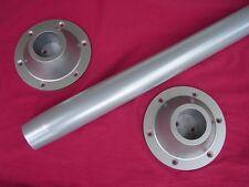 "RV pedestal 27 ½"" TABLE LEG + 2 ABS surface mount base  SILVER powder coat  pole"