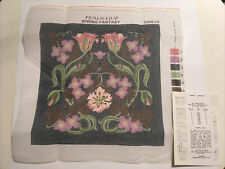 """PRIMAVERA TAPESTRY CANVAS """"SPRING FANTASY"""" CANVAS + INSTRUCTIONS ONLY. RARE !"""